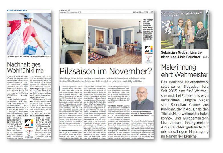 Innung informiert in Print-Medien